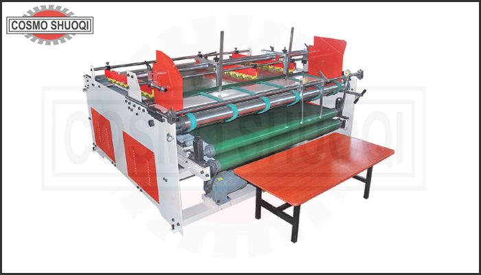 Pressing type folding gluing machine